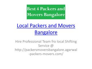 Local Movers In Bangalore