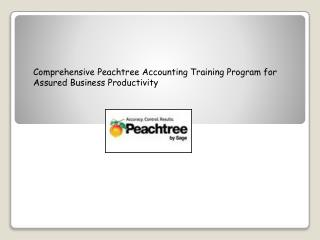 Comprehensive Peachtree Accounting Training Program