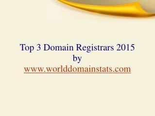 Top 3 Domain Registrars 2015