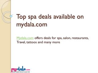 Top spa deals on mydala