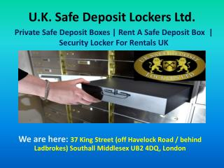 Private Safe Deposit Boxes UK