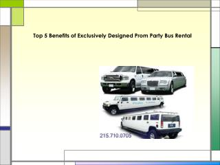 Top 5 Benefits of Exclusively Designed Prom Party Bus Rental