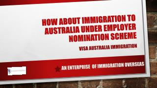 How about immigration to Australia under Employer Nomination