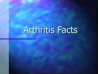 Arthritis Facts Leading Causes of Disability