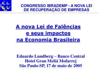 A nova Lei de Fal ncias  e seus impactos  na Economia Brasileira