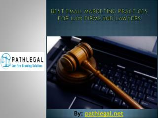 Email marketing tips for law firms