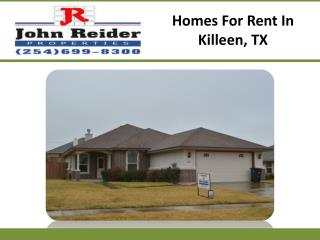 Homes For Rent In Killeen, TX