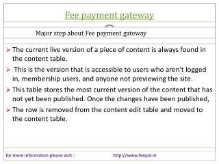 fee Payment gateway Solution for Retail and e Commerce