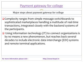 Its shares to the public link payment gateway for colleges