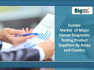 Cancer Diagnostic Testing Product Market In Europe