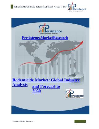 Rodenticide Market: Global Industry Analysis and Forecast to