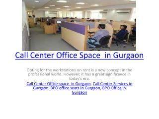 Call Center Services in Gurgaon