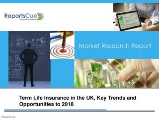 Term Life Insurance in the UK, Key Trends and Opportunities,