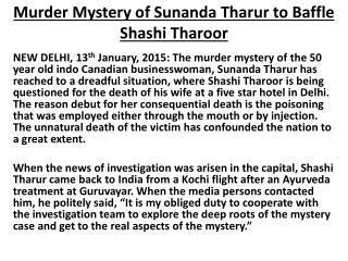 Kislay Pandey-Murder Mystery of Sunanda Tharur