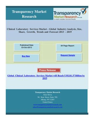 Clinical Laboratory Services Market - Global Industry Analys