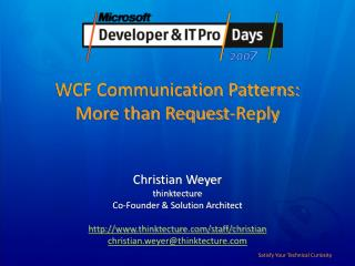 WCF Communication Patterns: More than Request-Reply