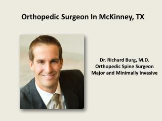 Orthopedic Surgeon In McKinney