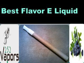 Try Best Tobacco Flavor E Liquid