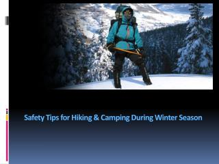 Tips for Hiking During Winter