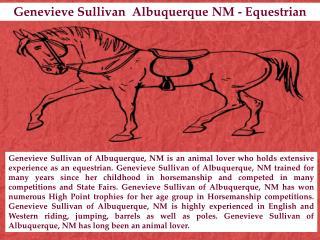 Genevieve Sullivan  Albuquerque NM - Equestrian