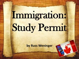 Immigration Study Permit