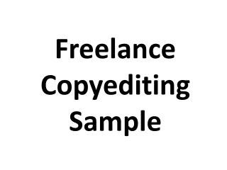 Freelance Copyediting