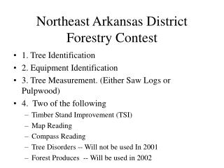 Northeast Arkansas District Forestry Contest