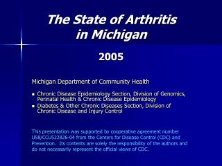 State of Arthritis in Michigan