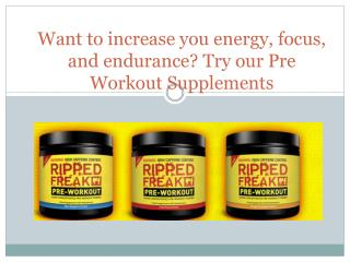 Increase Your Energy with pre workout supplements