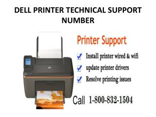 Dell Printer Technical Support Number 1-800-832-1504