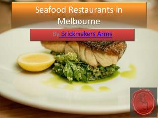 Seafood Restaurants in Melbourne