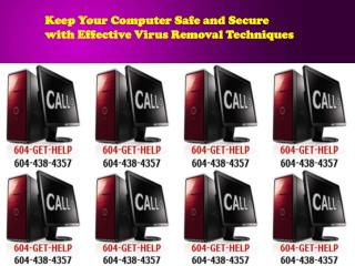 Keep Your Computer Safe and Secure with Effective Virus Remo