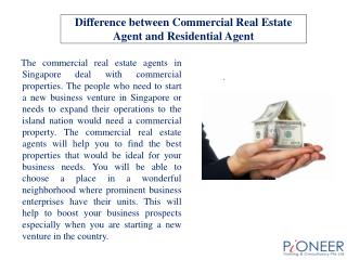 Difference between Commercial Real Estate Agent and Resident