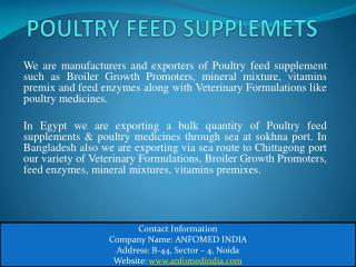 What is Poultry Feed Supplements