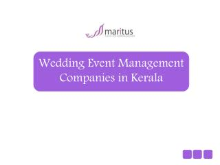 Wedding event management companies in Kerala