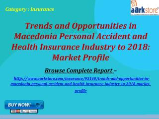 Macedonia Personal Accident and Health Insurance Industry