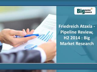 Analysis on Friedreich Ataxia - Pipeline Review, H2 2014