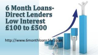 6 Month Loans No Fee @ www.6monthloans1hr.co.uk
