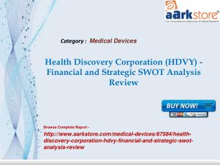 Aarkstore - Health Discovery Corporation (HDVY) - Financial