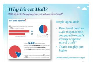 Acquire new customers with direct mail design service in Mum