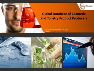Global Database of Cosmetic and Toiletry Product Producers