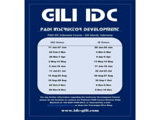 PADI IDC Indonesia and PADI Gili Islands