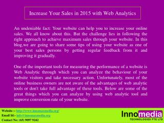 Increase Your Sales in 2015 with Web Analytics