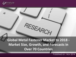 Forecast of Metal Fastener Market to 2018