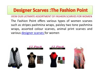 women designer scarves: The Fashion Point