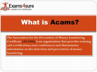 Acams Certification Study Material