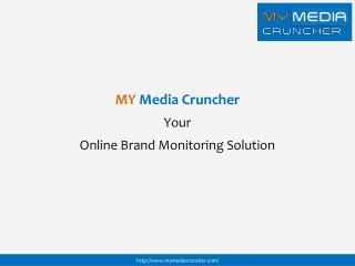Brand Monitoring Tool My Media Cruncher