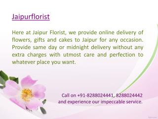 Send Flowers Online to Jaipur