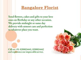 Online Flower Delivery to Bangalore
