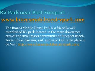 RV Park near Port Freeport - www.brazosmobileandrvpark.com